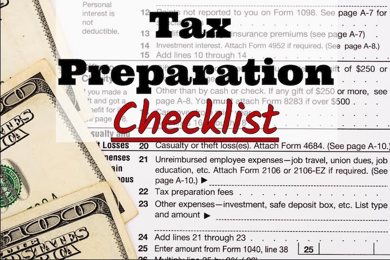 Bay Area Management Services, Inc.'s 2017 Tax Preparation Checklist